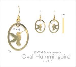 Wild Bryde Oval Hummingbird Earrings