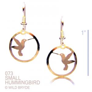 Wild Bryde Small Round Hummingbird Earrings