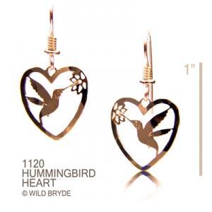 Wild Bryde Small Hummer in Heart Earrings