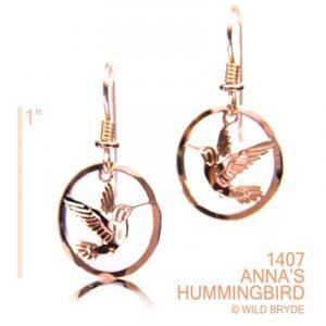 Wild Bryde Anna's Hummingbird Earrings