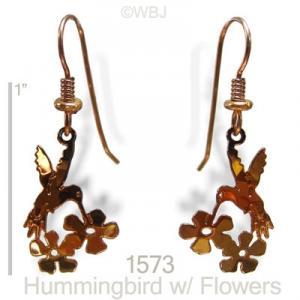 Hummingbird Flowers Earrings