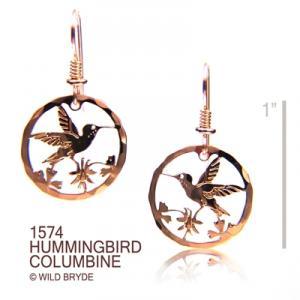 Wild Bryde Hummingbird Columbine Earrings