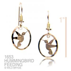 Wild Bryde Hummingbird Feeding Earrings