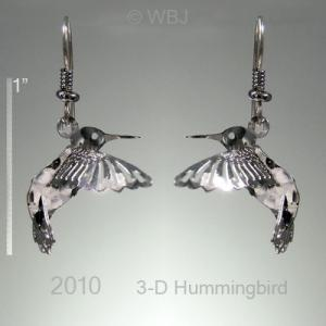 Wild Bryde 3-D Hummingbird Earrings