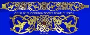 Hummingbird Garnet Bracelet