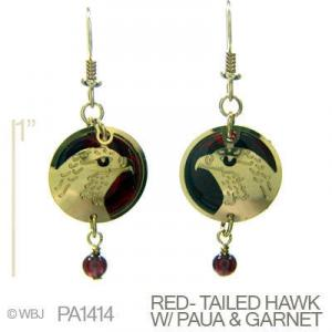 Wild Bryde Red-Tailed Hawk with Amethyst Earrings
