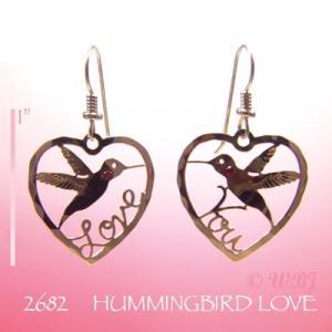 Wild Bryde Hummingbird Love Earrings