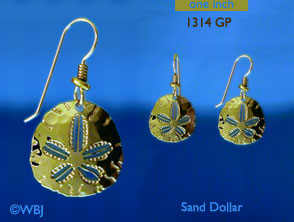 Wild Bryde Sand Dollar Earring