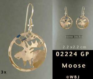 Moose Earrings
