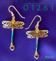 Wild Bryde Dragonfly with Iridescent Blue Earrings