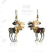 Standing Moose Earrings
