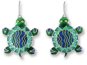 Zarlite Calypso Turtle Earrings