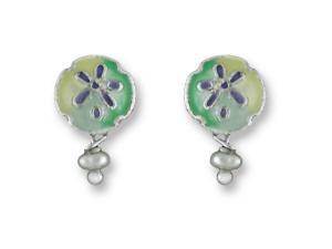Zarlite Sand Dollar Earrings