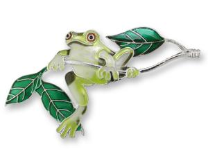 Zarlite Frog On Twig Pin