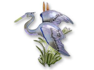 Zarlite Great Blue Heron Pin
