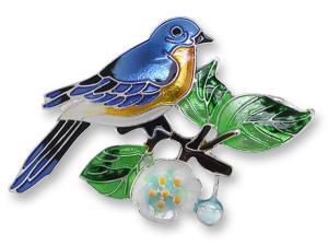 Zarlite Bluebird and Dogwood Pin