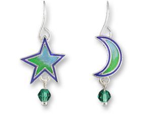 Zarlite Moon and Star Earrings