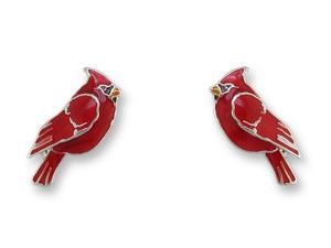 Zarlite Red Cardinal Earrings