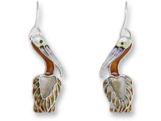 New ZARAH Enamel Jewelry STERLING SILVER Post Earrings CLOWNFISH Ocean Fish