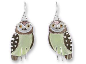 Zarlite Owl Earrings