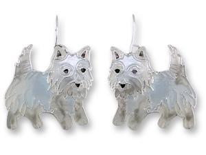 Zarlite West Highland Terrier Earrings