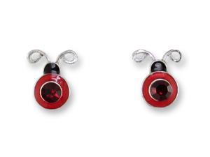 Zarlite Crystal Ladybug Earrings