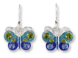 Zarlite Crystal Butterfly Earrings