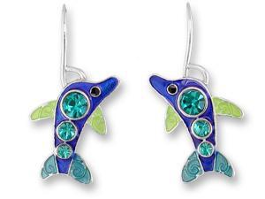 Zarlite Crystal Dolphin Earrings