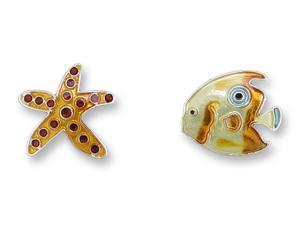 Zarlite Starfish and Fish Earrings