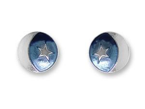 Zarlite Moon and Star Post Earrings