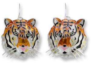 Zarlite Bengal Tiger Head Earrings