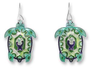 Zarlite Turtle Montage Earrings