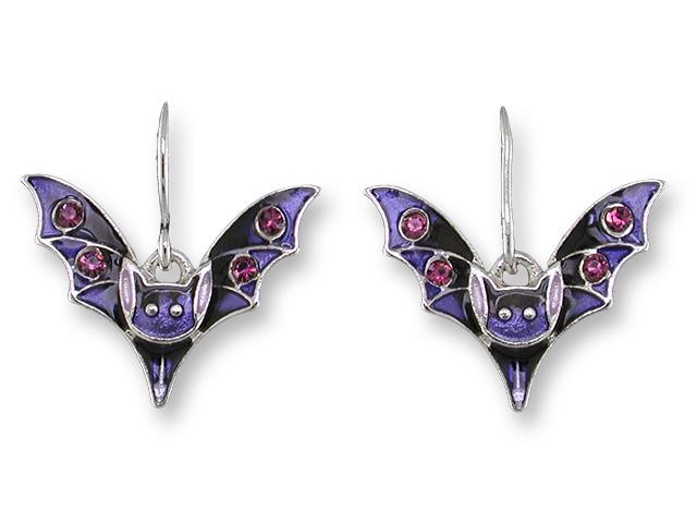 Crystal Bat Earrings